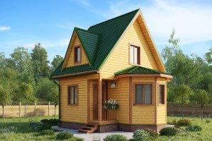 Проект дома из бруса 13