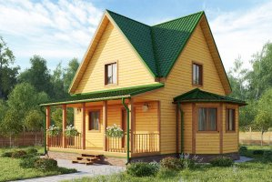 Проект дома из бруса 20